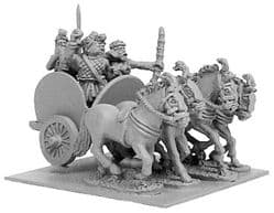 Xyston 15mm Ancients ANC20100 Indian 4-Horse Chariot & 2 Crew (1)